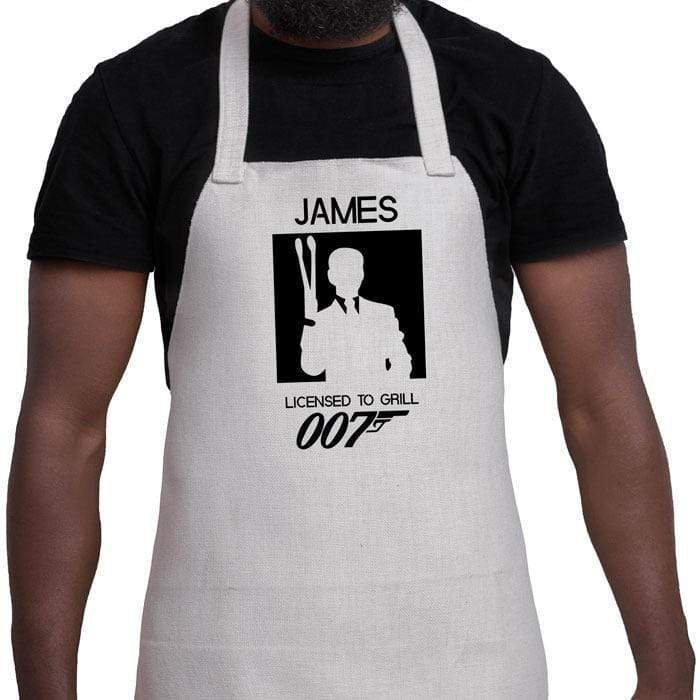 Personalised 007'' Woven Apron