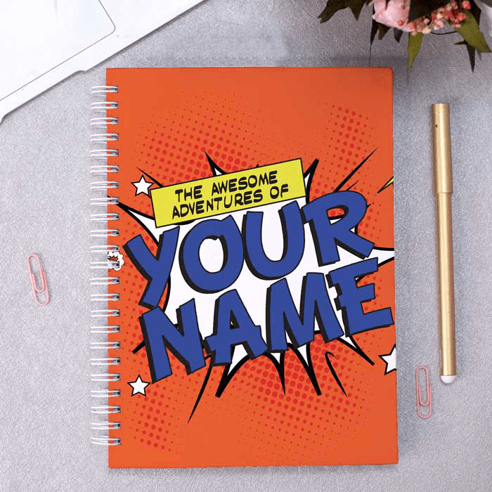 Personalised A5 Notebook - The Awesome Adventure