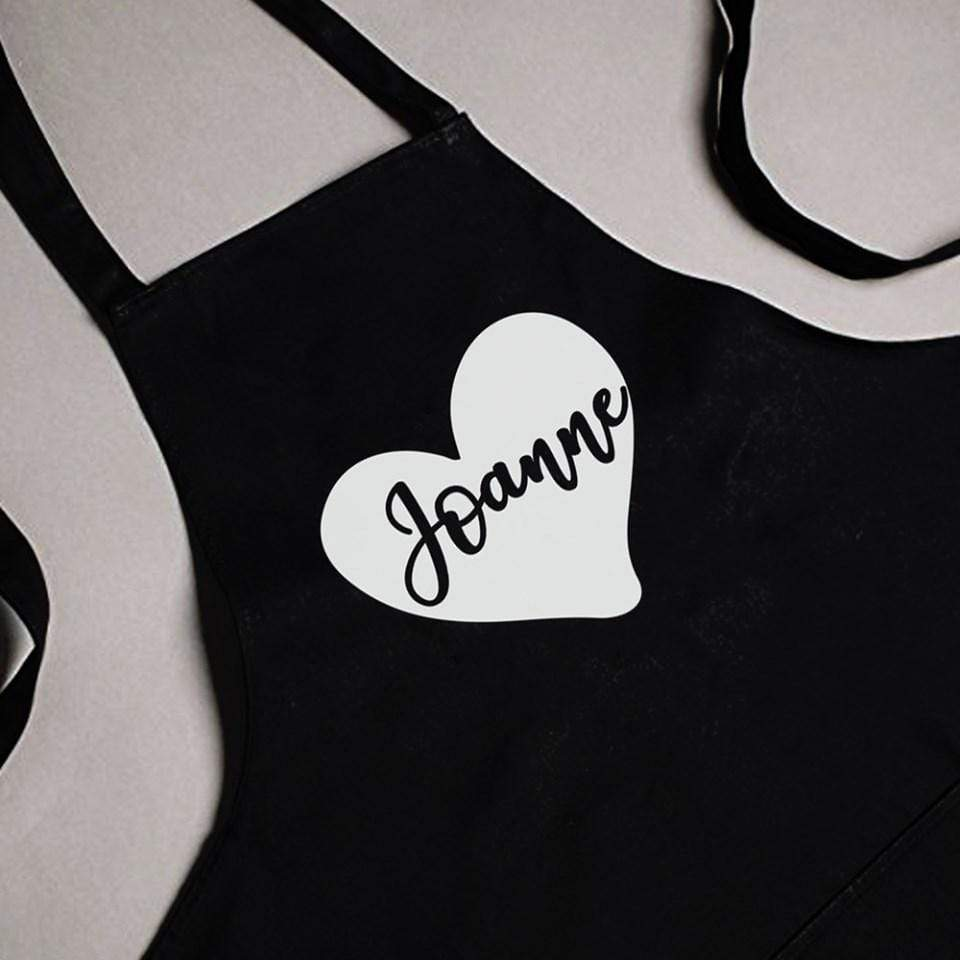 Apron Personalised Black Apron - Name