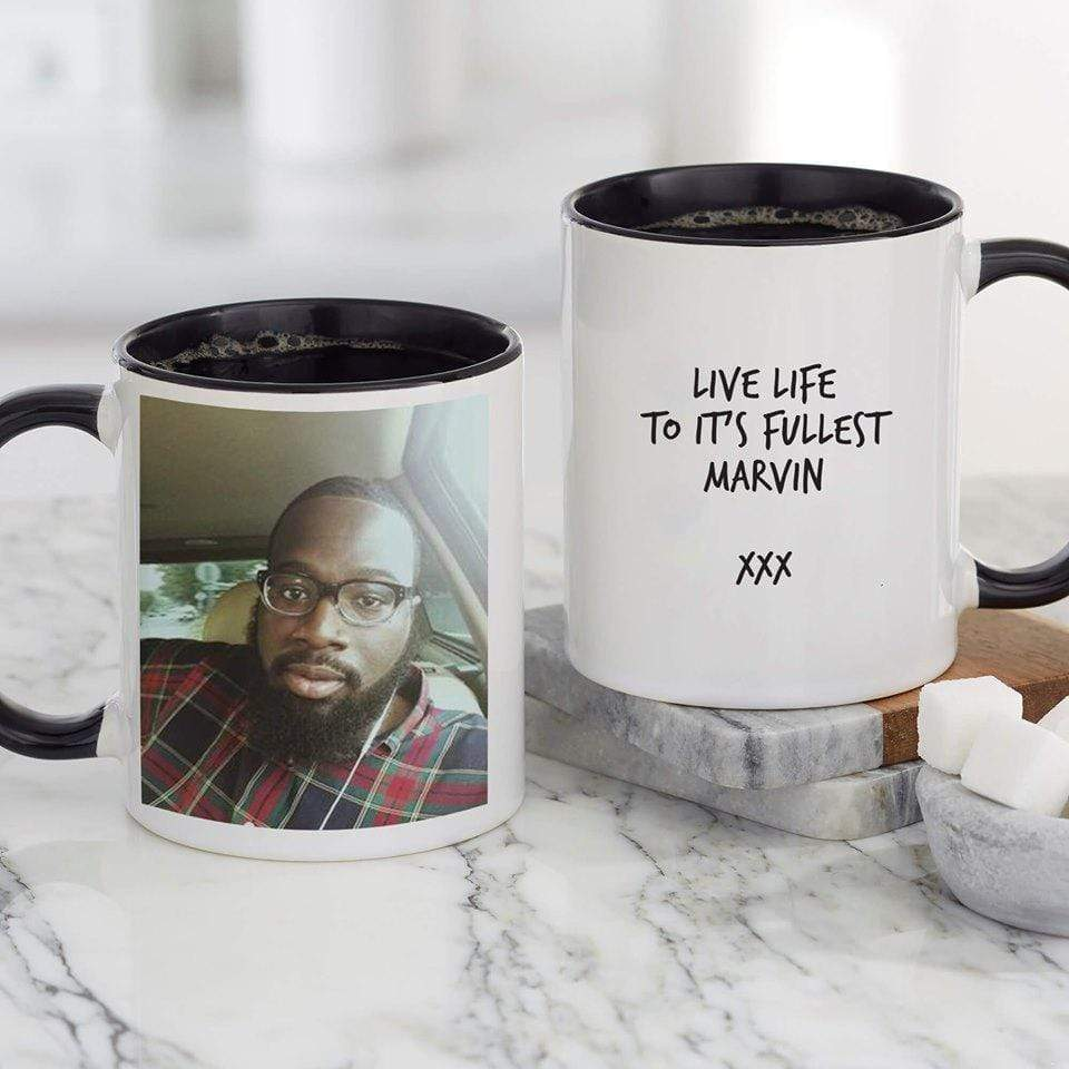 Personalised Black Coded Mug - Photo Upload