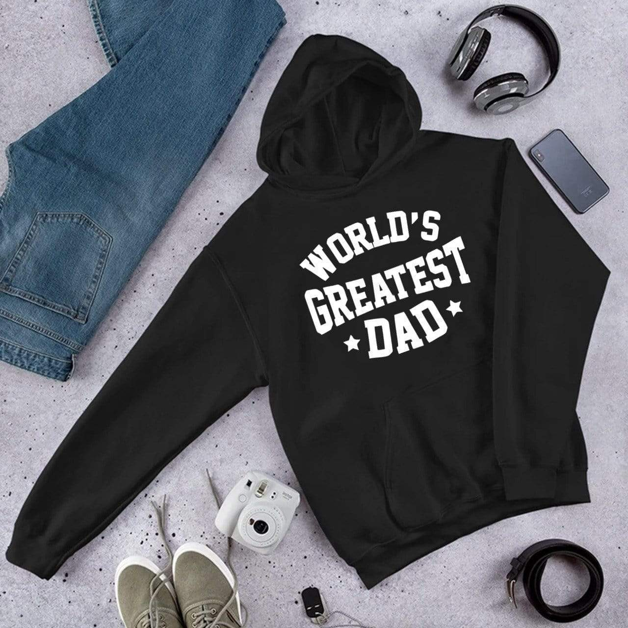 Hoodie Personalised Black Hoodie - World's Greatest Dad