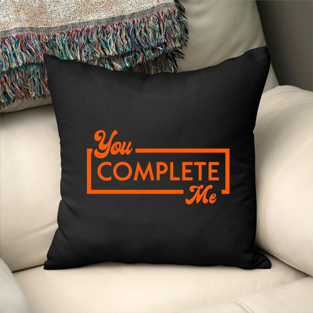 Pillow Case Personalised Cotton Throw Pillow Cover - You Complete Me