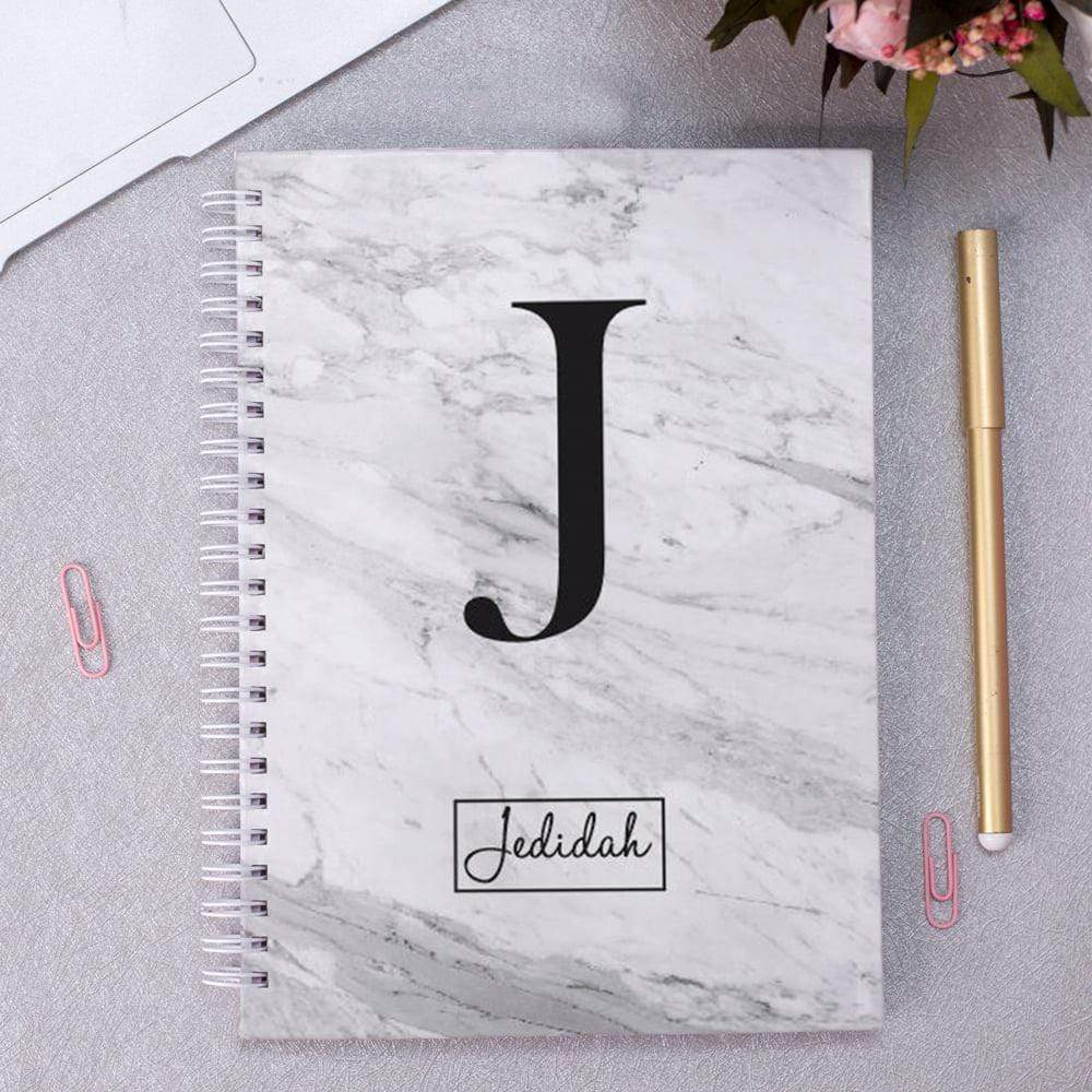 A5 Planner Personalised Initial & Name Marble Planner