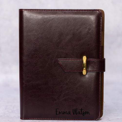 Notebooks Personalised Leathersque Coffee Brown Notebook - A5
