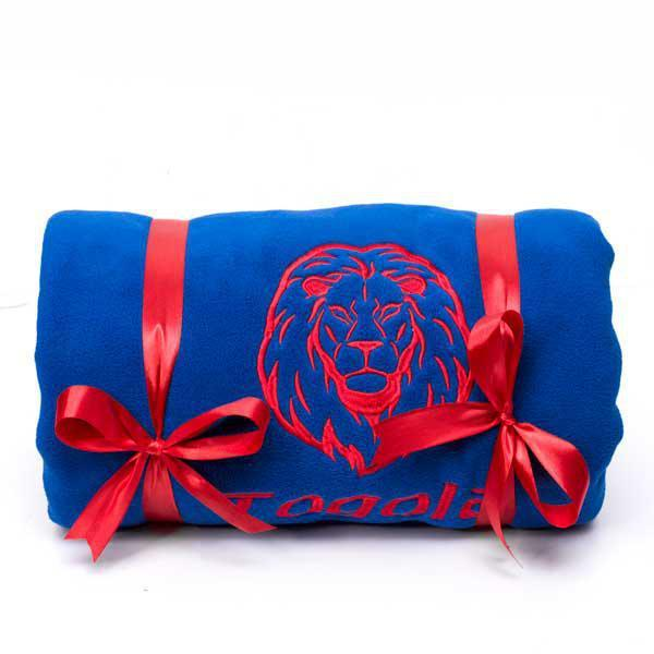 Personalised Maasai Fleece Throw Blanket