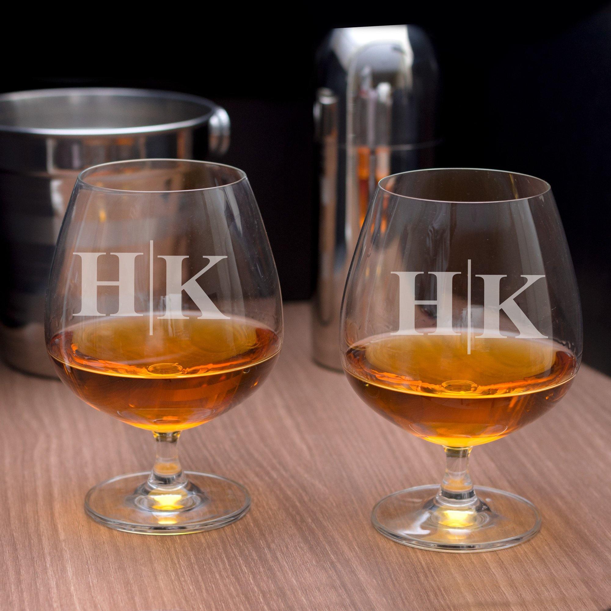 Personalised Madison Cognac Glass Set of 2 - Initials