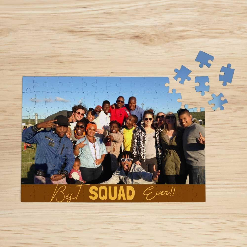 Personalised Magnetic Jigsaw Puzzle, 120 Pieces - Squad
