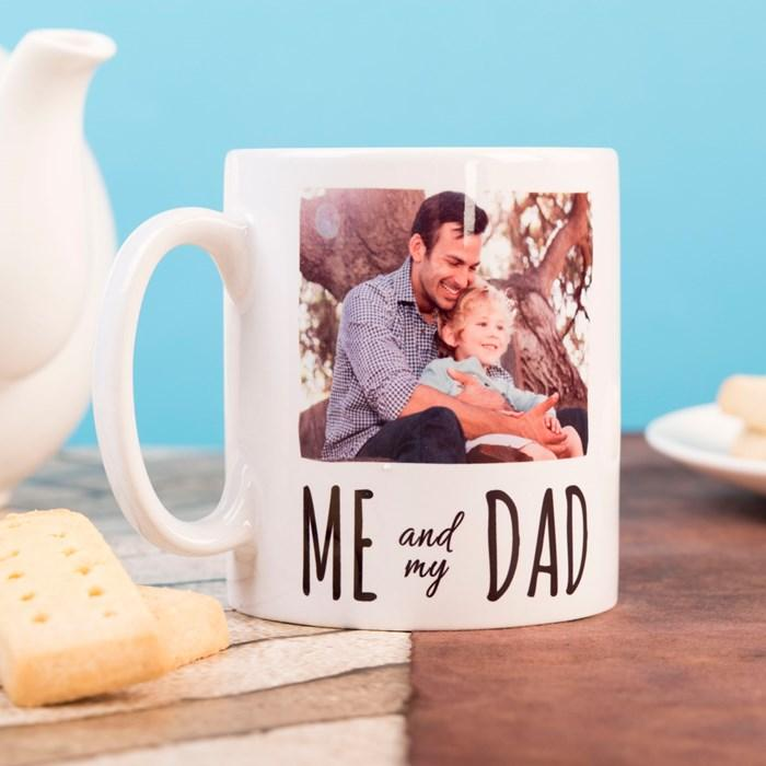 Personalised Tea Mug Personalised Me and My Dad Photo Upload Mug -