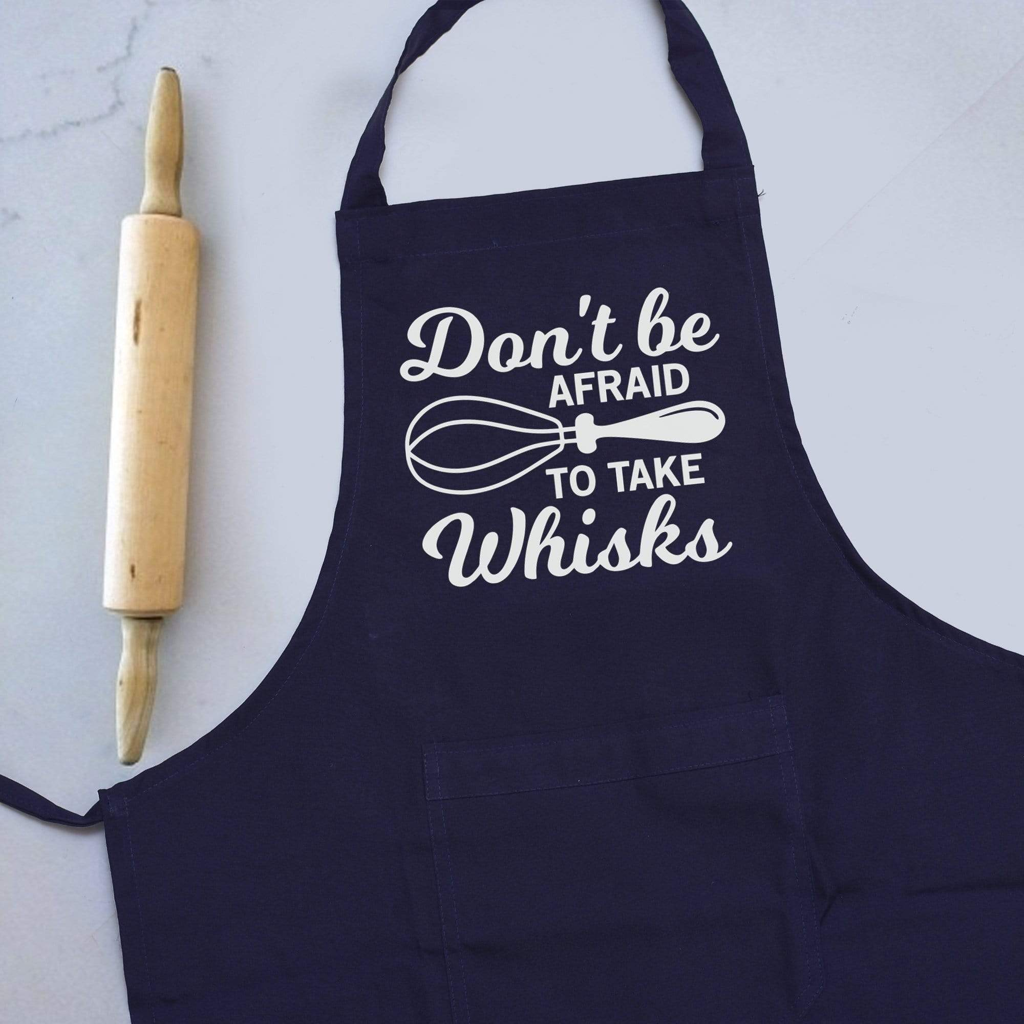 Apron Personalised Navy Blue Apron - Whisks