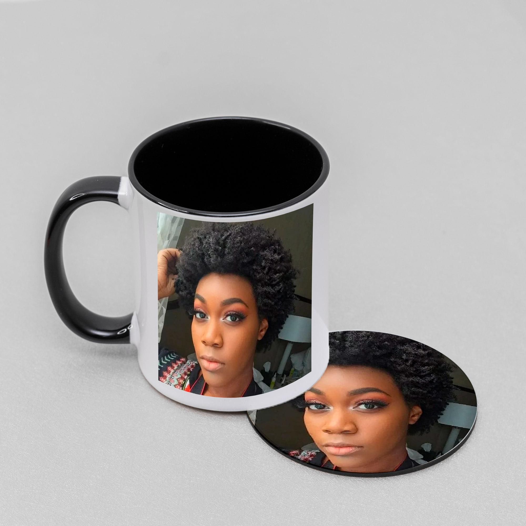 Personalised Photo Upload Coded Mug And Coaster Set