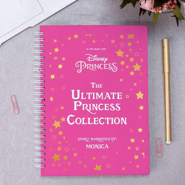 Personalised Pink Cover Notebook - Disney Princess Notebook
