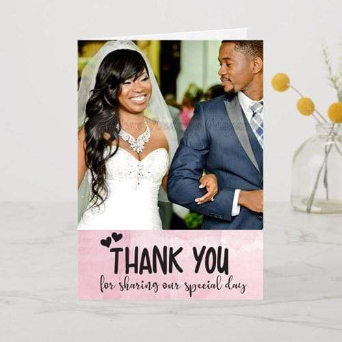 cards Personalised Single Photo Upload Card - Thank You Special Day (Set of 10)