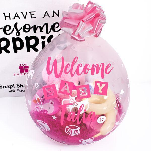 Personalised Stuffed Balloon - Baby Girl
