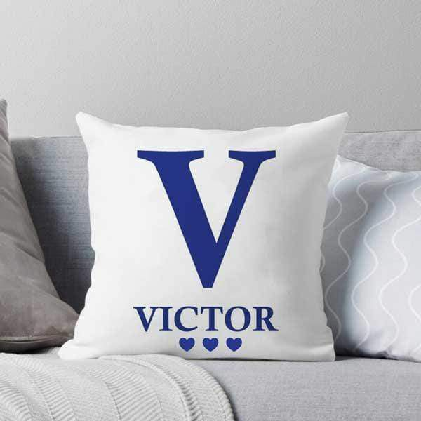 Personalised Throw Pillow - Initial & Name