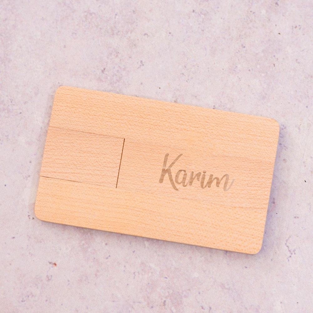 FlashDrive Personalised Wooden Finish Flashdrive, 8GB