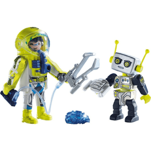 Toy Playmobil Astronaut and Robot Duo Pack