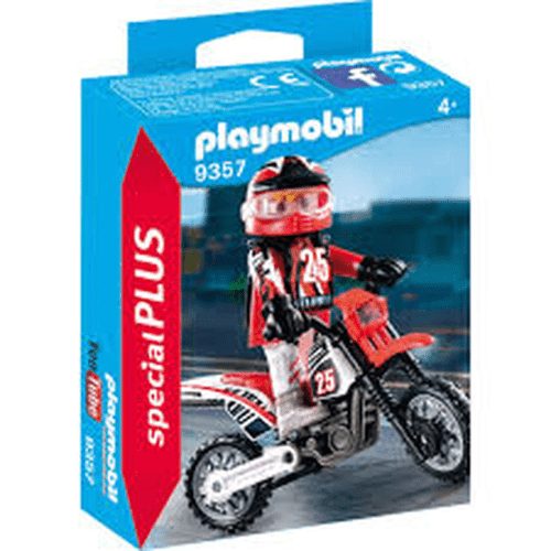 Toy Playmobil Motorcross Driver Toy