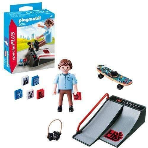 Toy Playmobil Skateboarder with Ramp Toy