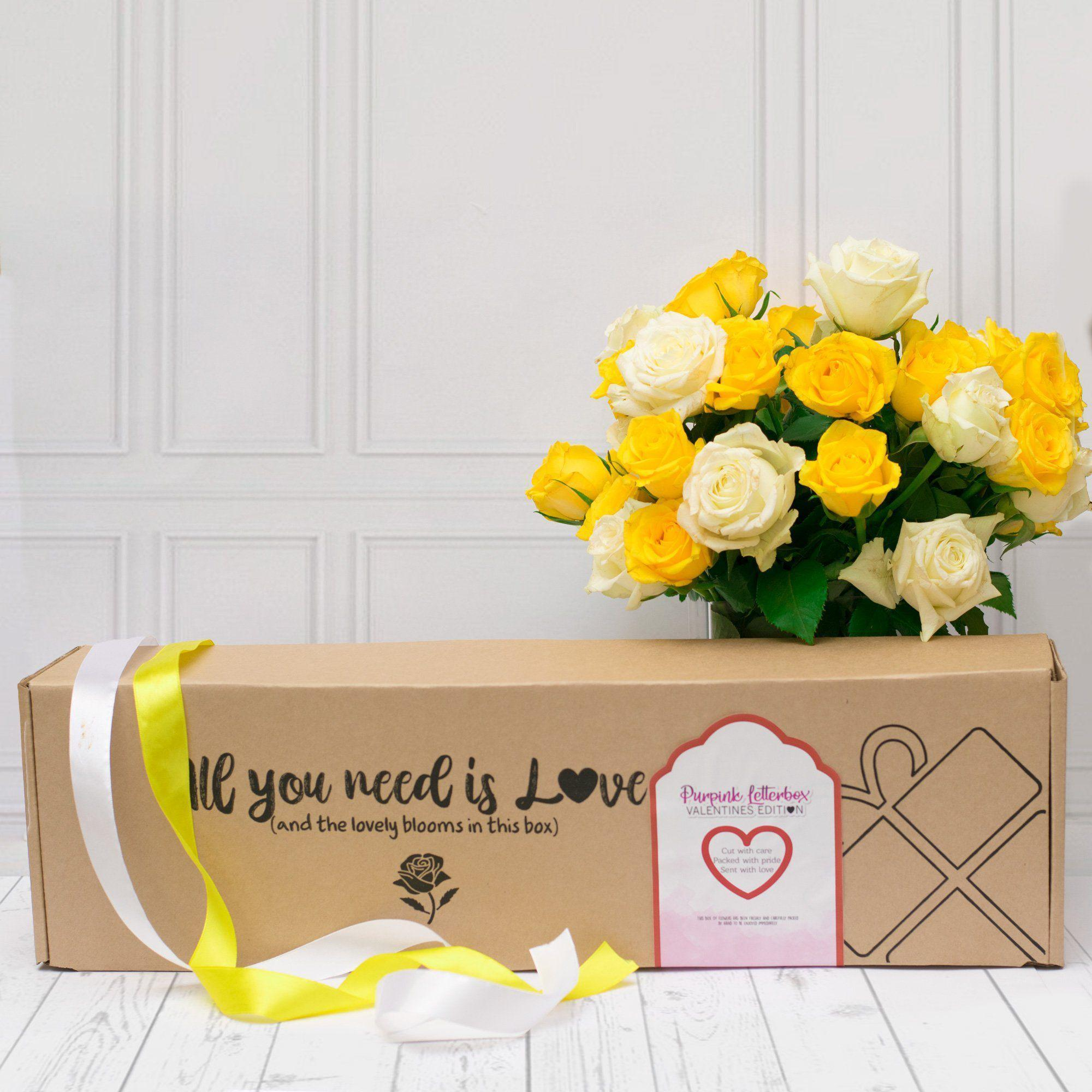 Ray of Sunshine Premium Roses in Gift Box