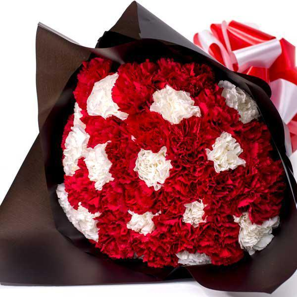 Flowers Red and White Carnation Bouquet