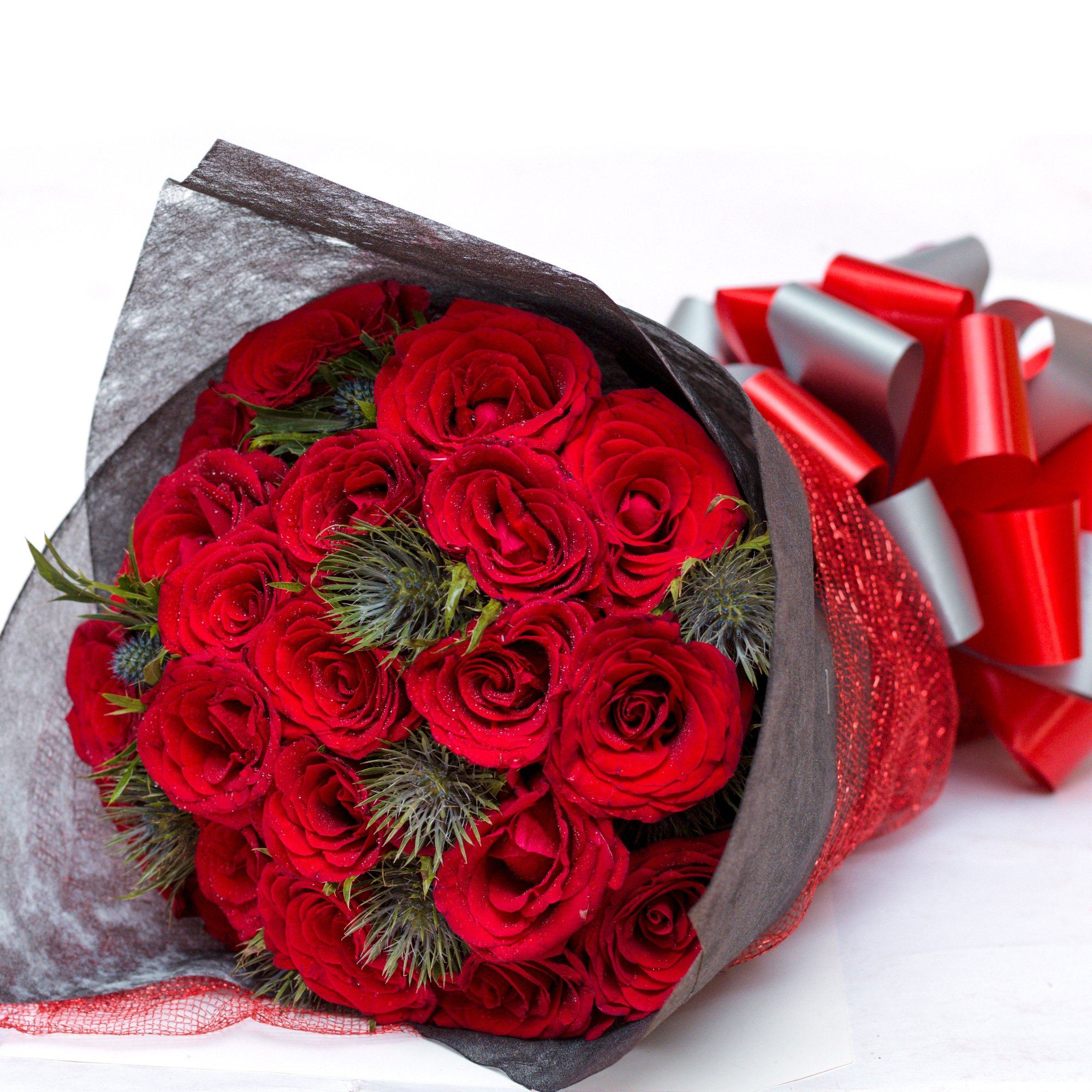 Flowers Seductive Red Roses Bouquet