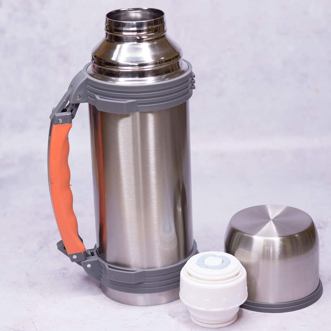 Travel Mug Silver Camping Thermos