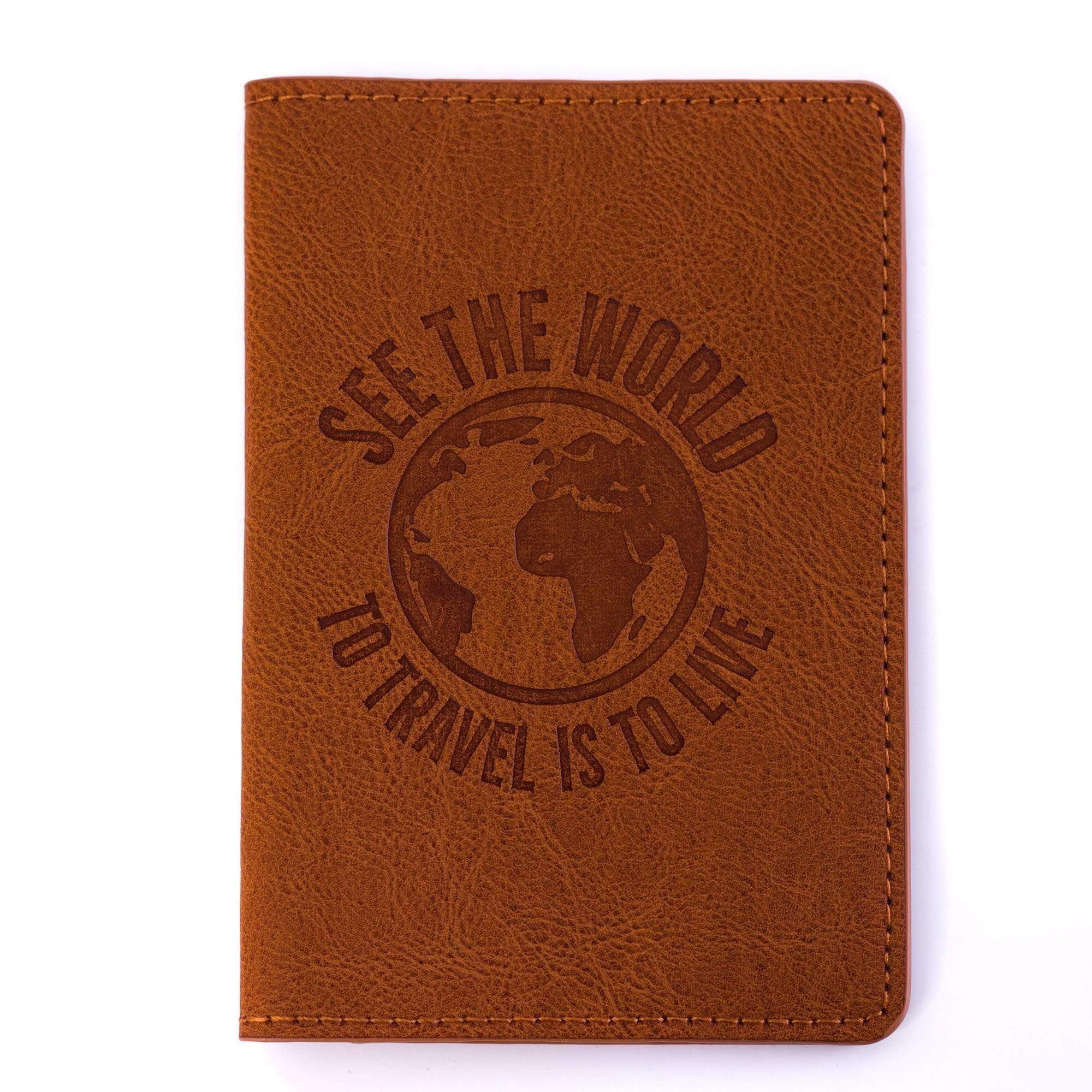 Passport Tan Brown leatherette Passport Cover