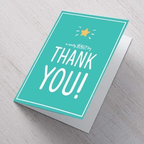 AddOns Thank You A6 Card - A Really Big Thank You