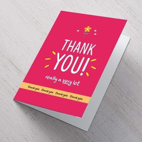 AddOns Thank You A6 Card - Thank You A Lot