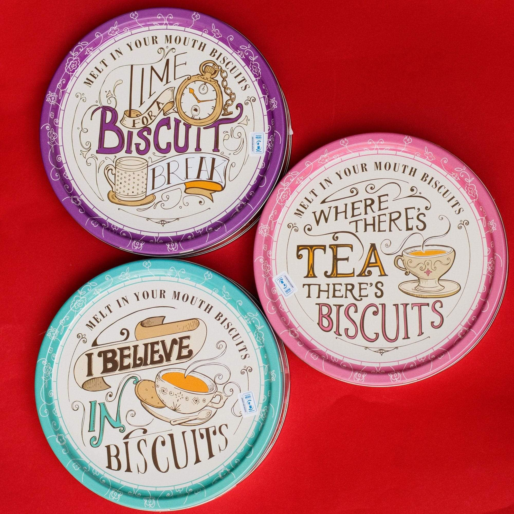 AddOns Where There's Tea, There's Biscuits Danish Cookies Tin
