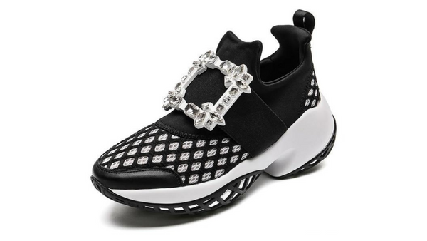 Crystal Air Mesh Chunky Trainers or Sneakers