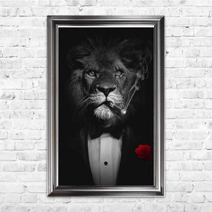 sylvain binet lion cigar framed art