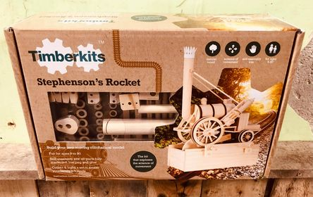 Timber kits Stephenson's Rocket Mechanical Wooden Train Model Self Build Kit