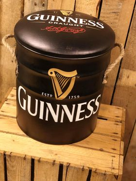 Guinness seat storage stool / tub / barrel seating