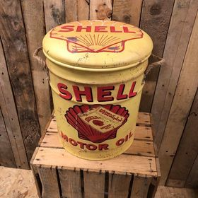 Shell Oil storage stool / tub / barrel seating