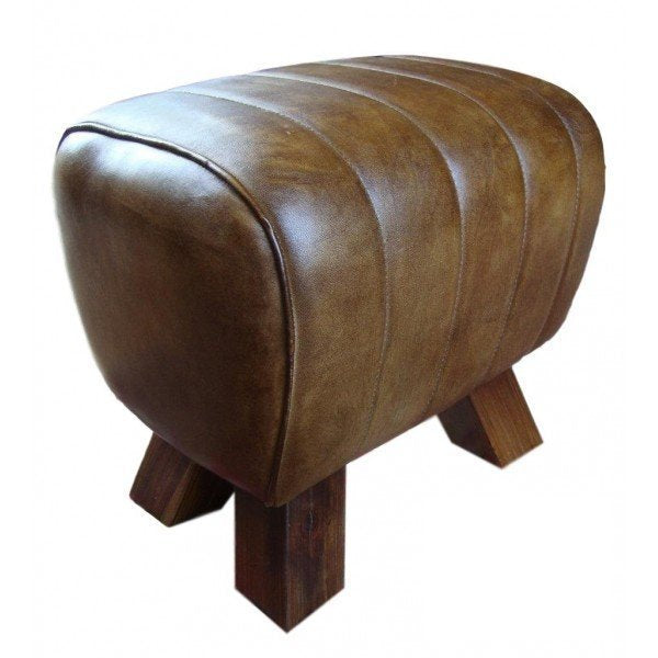 Leather Stool - Mini Pommel Horse Style