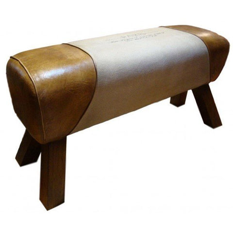 Leather Bench Paris Pommel Horse Style