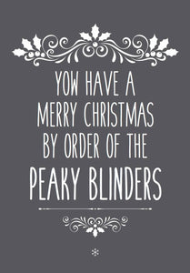 peaky blinders christmas card