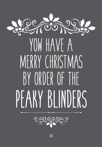 Yow Brummie Peaky Blinders Christmas Card - Egg & Beans Cards