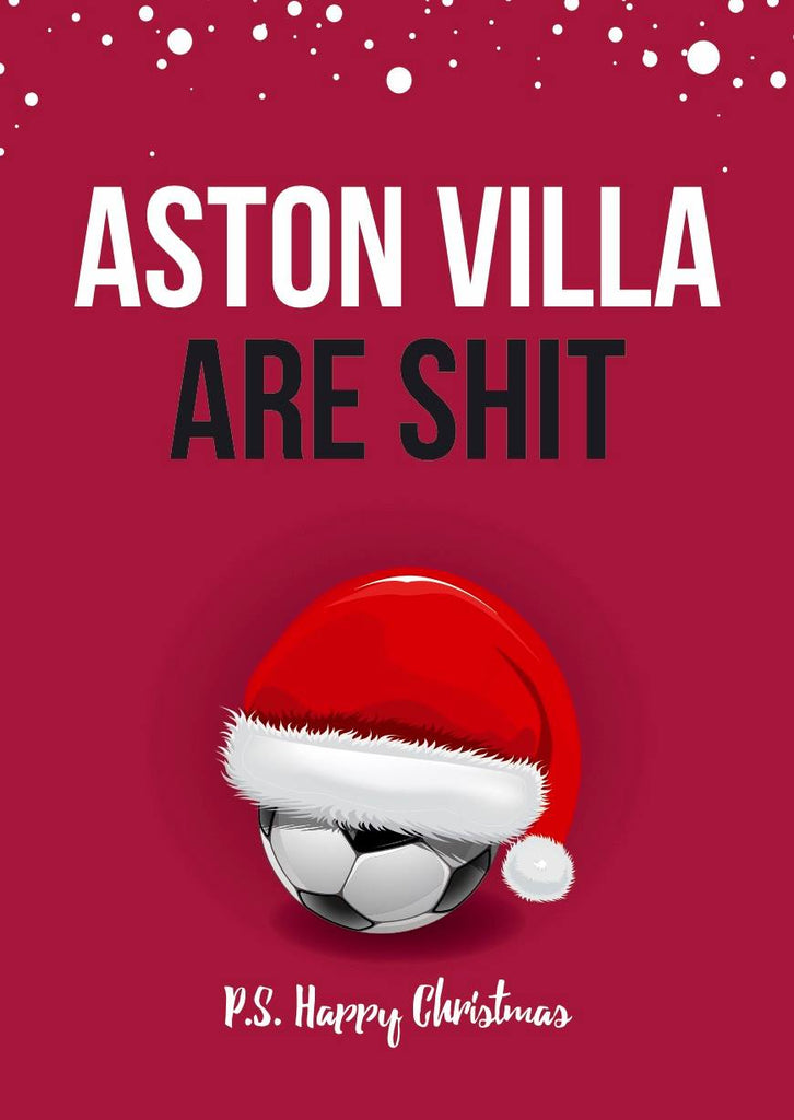 Funny Shit Football Christmas Card  - Various Teams Available - Egg & Beans Cards