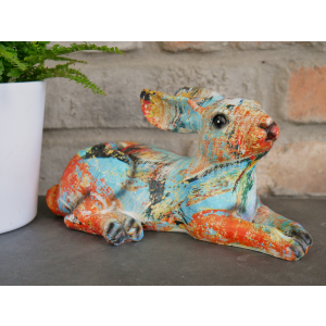 Colourful Paint splat Hare Ornament