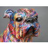 Colourful Paint Splash Bulldog Ornament