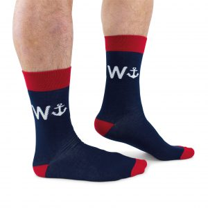 Cockney Spaniel Anchor wanker sailing Funny Socks