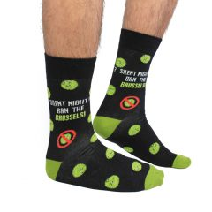 Cockney Spaniel Silent Night sprout farts Funny Christmas Socks