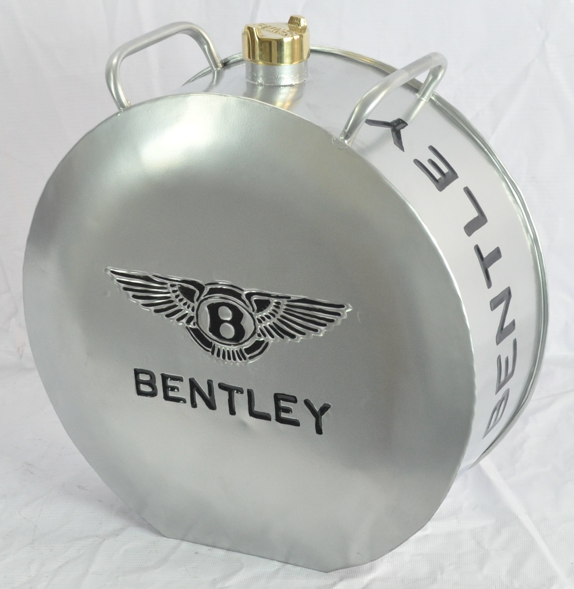Retro Hand Painted Bentley Advertising Aluminium Oil Petrol Jerry can