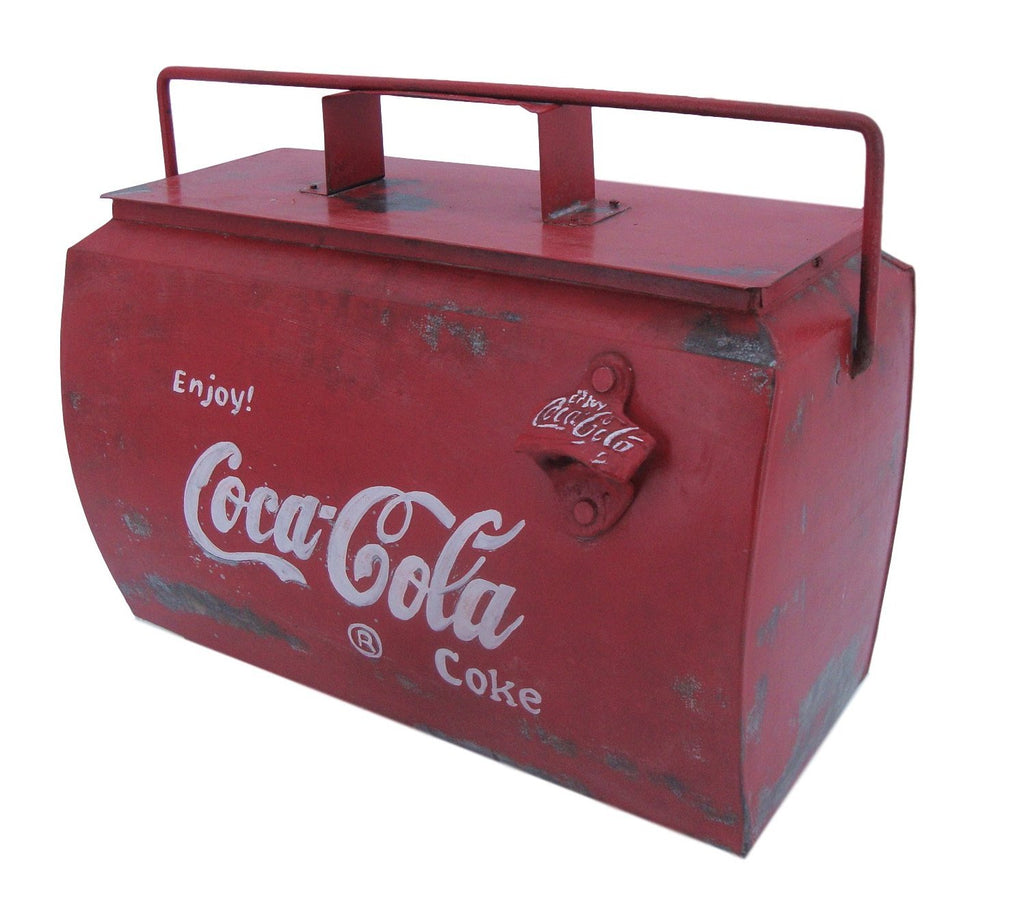 Coca Cola Small Drinks Cooler Box - Vintage Style