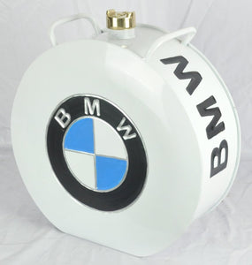 Retro Hand Painted BMW Advertising Aluminium Oil Petrol Jerry can