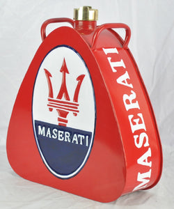 Retro Hand Painted Maserati Advertising Aluminium Oil Petrol Jerry can