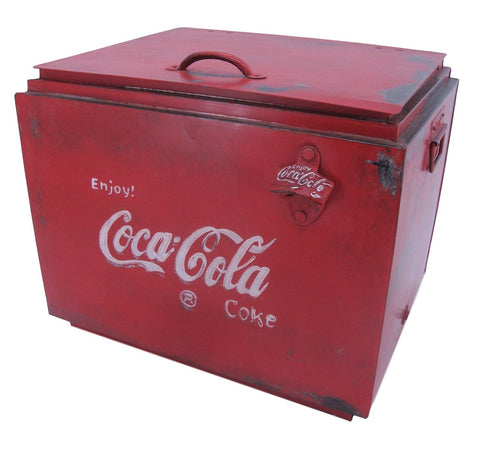 Coca Cola Large Drinks Cooler Box - Vintage Style