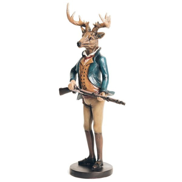 Hunted become the Hunter Hand Painted Stag Figure